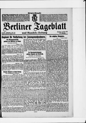 Berliner Tageblatt und Handels-Zeitung vom 15.05.1921