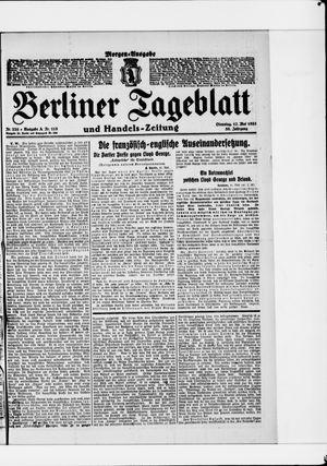 Berliner Tageblatt und Handels-Zeitung vom 17.05.1921