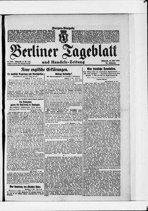 Berliner Tageblatt und Handels-Zeitung vom 18.05.1921