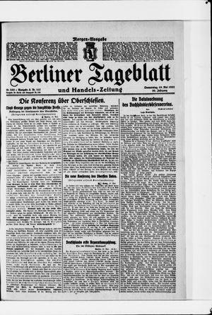 Berliner Tageblatt und Handels-Zeitung vom 19.05.1921
