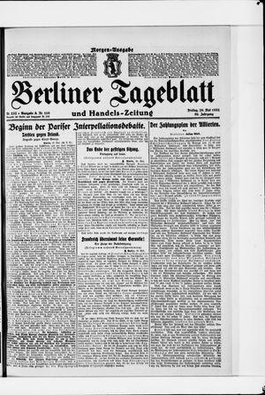 Berliner Tageblatt und Handels-Zeitung vom 20.05.1921