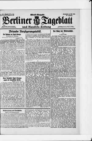 Berliner Tageblatt und Handels-Zeitung vom 21.05.1921