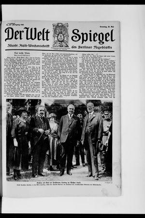 Berliner Tageblatt und Handels-Zeitung vom 22.05.1921