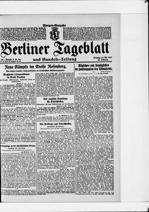 Berliner Tageblatt und Handels-Zeitung on May 24, 1921