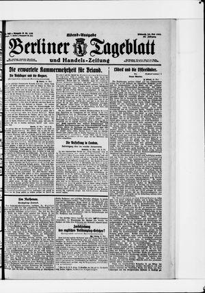 Berliner Tageblatt und Handels-Zeitung vom 25.05.1921