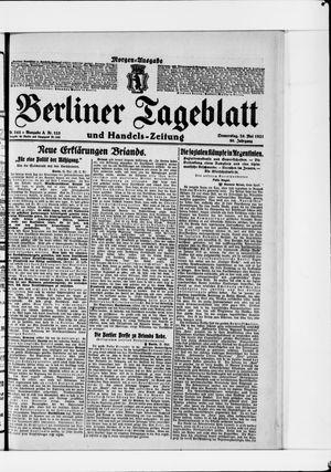 Berliner Tageblatt und Handels-Zeitung vom 26.05.1921