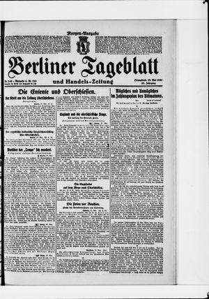 Berliner Tageblatt und Handels-Zeitung vom 28.05.1921