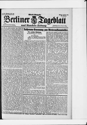 Berliner Tageblatt und Handels-Zeitung vom 30.05.1921