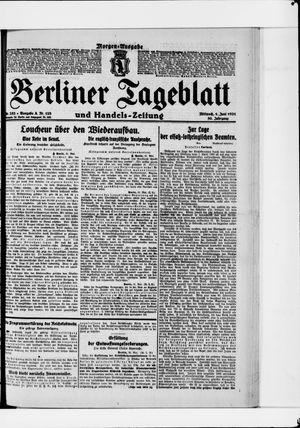 Berliner Tageblatt und Handels-Zeitung vom 01.06.1921