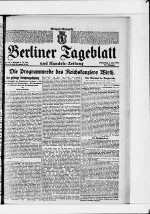Berliner Tageblatt und Handels-Zeitung vom 02.06.1921