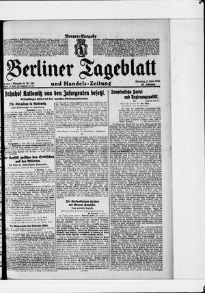 Berliner Tageblatt und Handels-Zeitung vom 07.06.1921