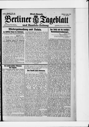 Berliner Tageblatt und Handels-Zeitung vom 08.06.1921