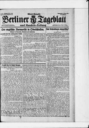 Berliner Tageblatt und Handels-Zeitung vom 09.06.1921