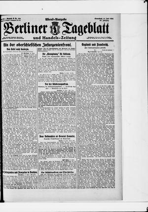 Berliner Tageblatt und Handels-Zeitung vom 11.06.1921