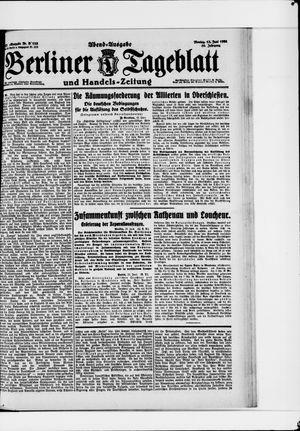 Berliner Tageblatt und Handels-Zeitung vom 13.06.1921