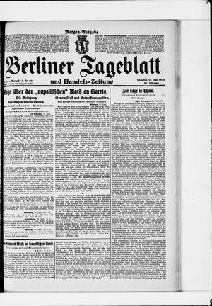 Berliner Tageblatt und Handels-Zeitung vom 14.06.1921