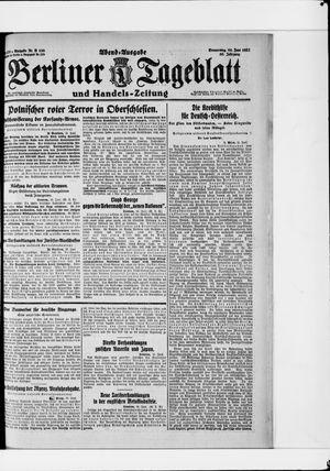 Berliner Tageblatt und Handels-Zeitung vom 16.06.1921