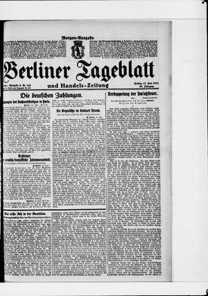 Berliner Tageblatt und Handels-Zeitung vom 17.06.1921