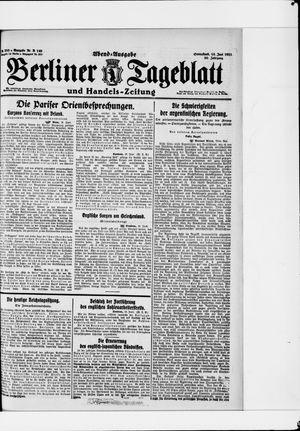 Berliner Tageblatt und Handels-Zeitung vom 18.06.1921