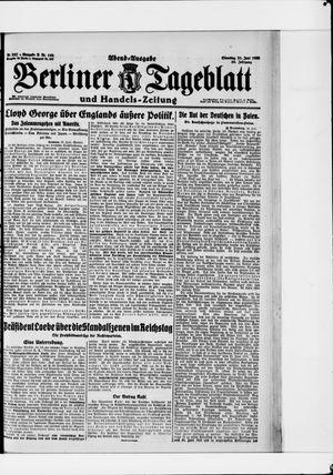 Berliner Tageblatt und Handels-Zeitung vom 21.06.1921