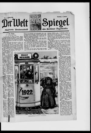Berliner Tageblatt und Handels-Zeitung vom 01.01.1922
