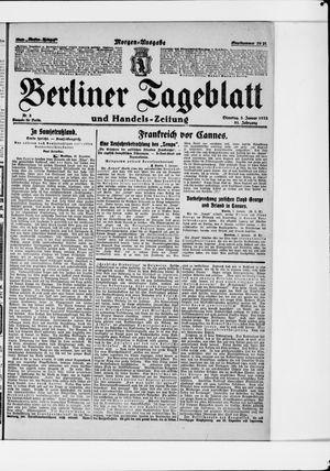 Berliner Tageblatt und Handels-Zeitung vom 03.01.1922