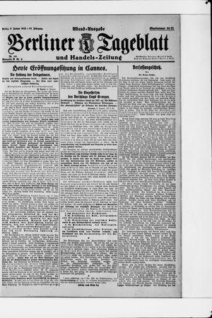 Berliner Tageblatt und Handels-Zeitung vom 06.01.1922