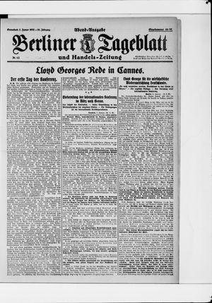 Berliner Tageblatt und Handels-Zeitung vom 07.01.1922