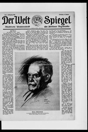 Berliner Tageblatt und Handels-Zeitung vom 08.01.1922