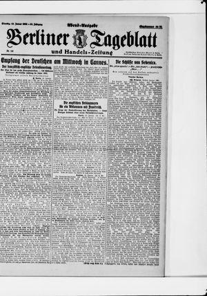 Berliner Tageblatt und Handels-Zeitung vom 10.01.1922