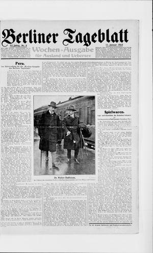 Berliner Tageblatt und Handels-Zeitung vom 11.01.1922