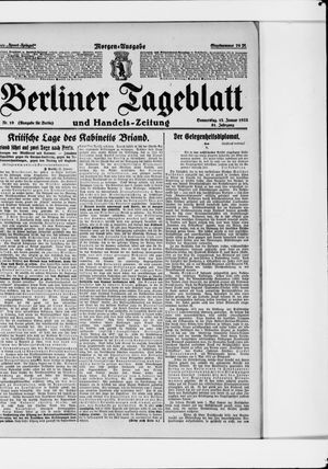 Berliner Tageblatt und Handels-Zeitung vom 12.01.1922