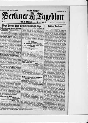 Berliner Tageblatt und Handels-Zeitung vom 14.01.1922