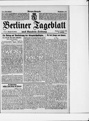 Berliner Tageblatt und Handels-Zeitung vom 15.01.1922