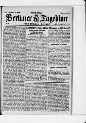 Berliner Tageblatt und Handels-Zeitung vom 16.01.1922