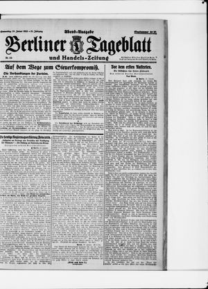 Berliner Tageblatt und Handels-Zeitung vom 19.01.1922