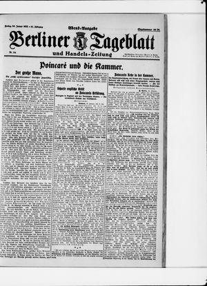 Berliner Tageblatt und Handels-Zeitung vom 20.01.1922