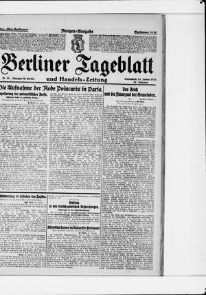 Berliner Tageblatt und Handels-Zeitung vom 21.01.1922