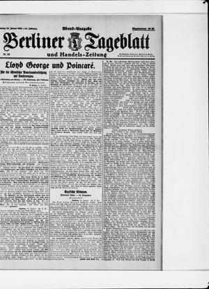 Berliner Tageblatt und Handels-Zeitung vom 23.01.1922