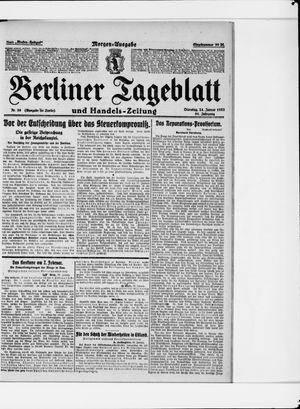 Berliner Tageblatt und Handels-Zeitung vom 24.01.1922