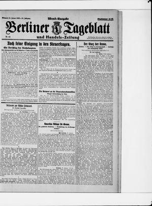 Berliner Tageblatt und Handels-Zeitung vom 25.01.1922