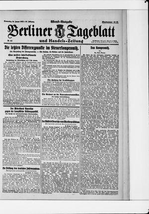 Berliner Tageblatt und Handels-Zeitung vom 26.01.1922
