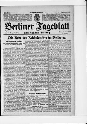 Berliner Tageblatt und Handels-Zeitung vom 27.01.1922