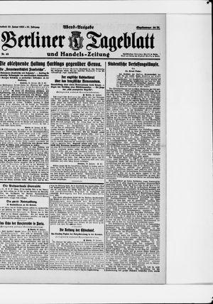 Berliner Tageblatt und Handels-Zeitung vom 28.01.1922