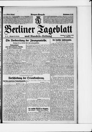 Berliner Tageblatt und Handels-Zeitung vom 31.01.1922