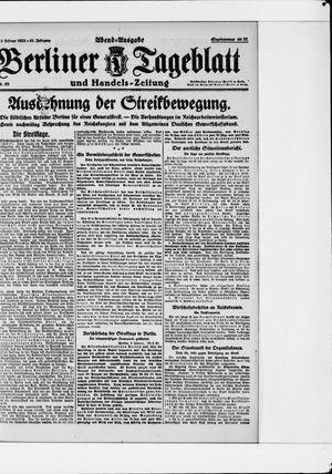 Berliner Tageblatt und Handels-Zeitung vom 03.02.1922