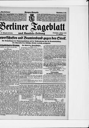Berliner Tageblatt und Handels-Zeitung vom 04.02.1922