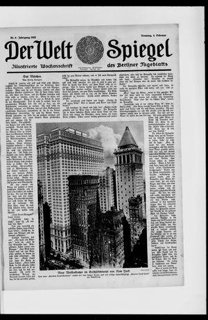 Berliner Tageblatt und Handels-Zeitung vom 05.02.1922