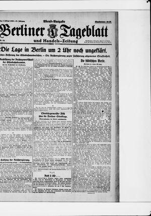 Berliner Tageblatt und Handels-Zeitung vom 07.02.1922