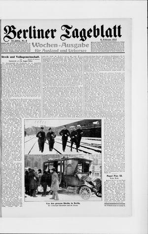 Berliner Tageblatt und Handels-Zeitung vom 08.02.1922